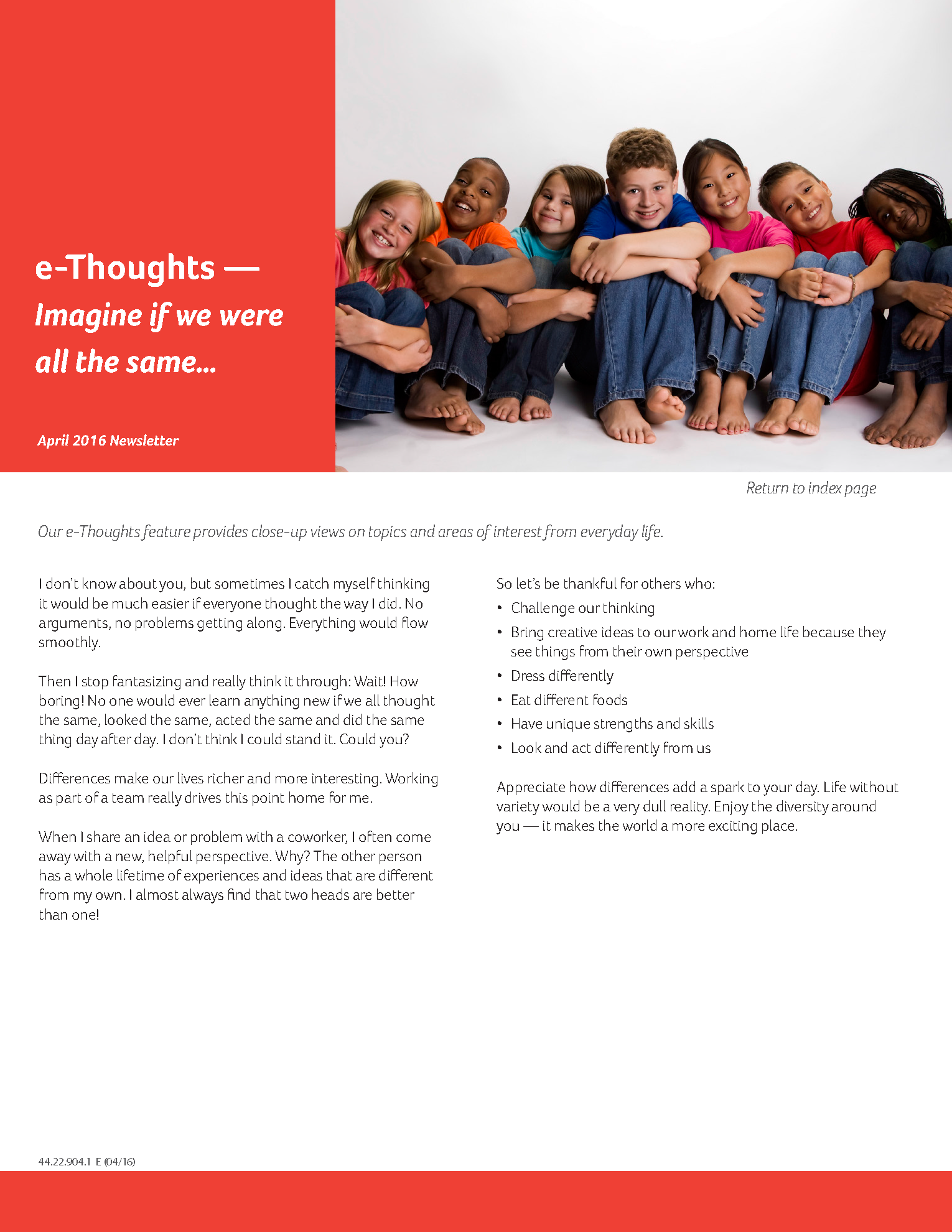 Apr16_MonthlyBulletin_e-Thoughts_Imagine if we were all the same