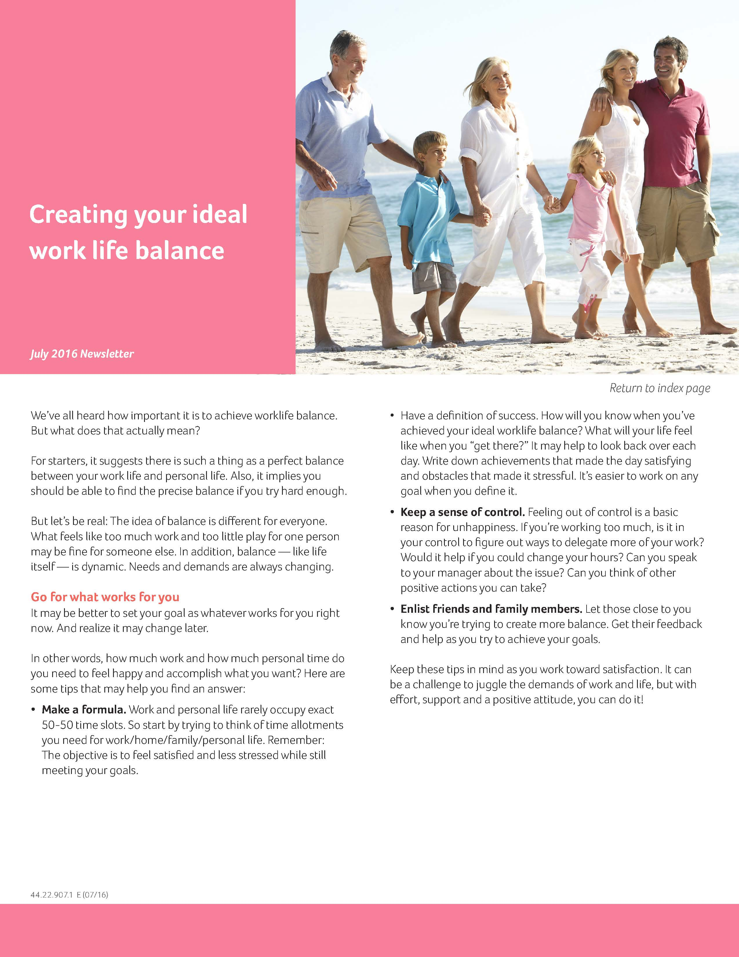 Jul16_MonthlyBulletin_Creating your ideal work life balance
