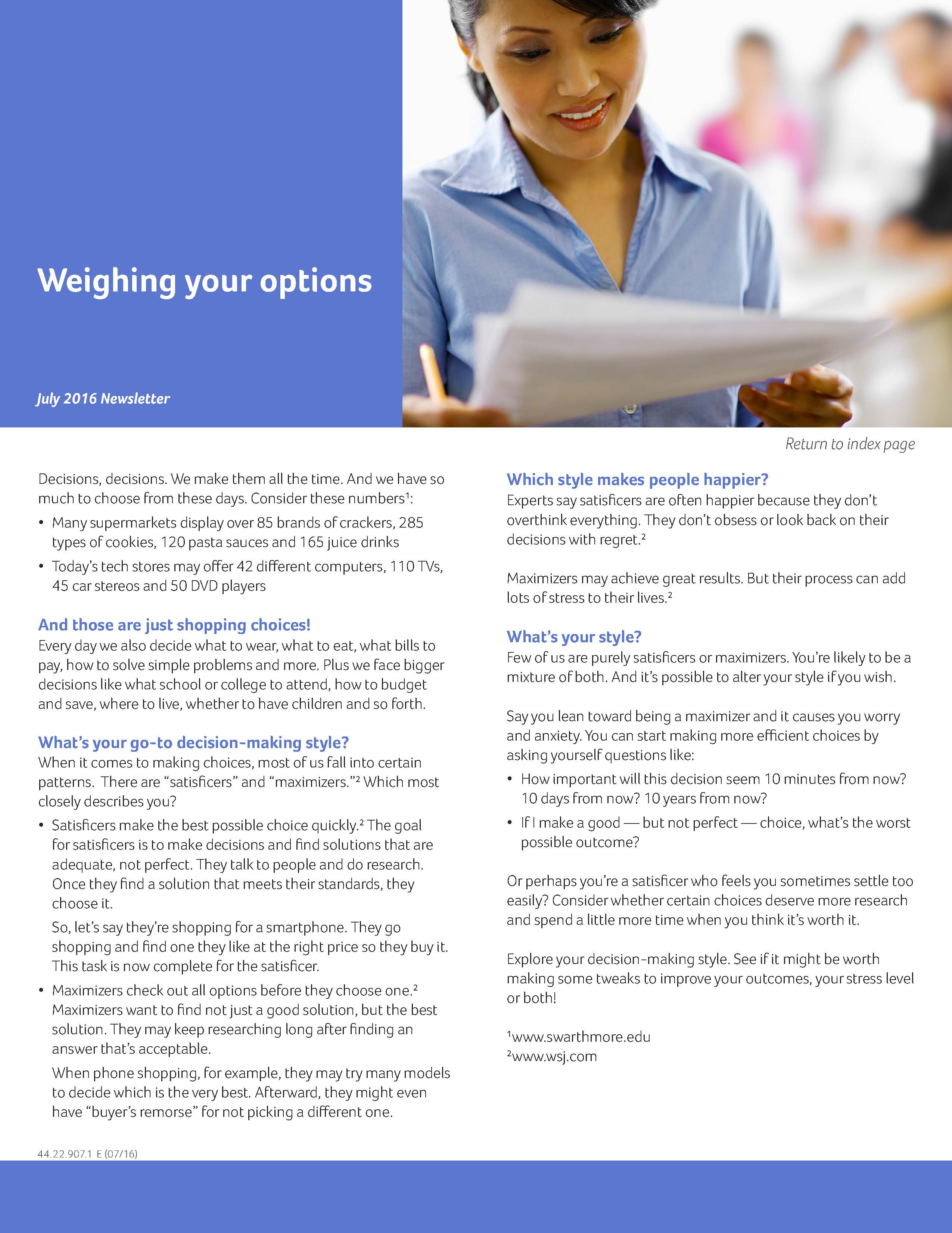 Jul16_MonthlyBulletin_Weighing your options